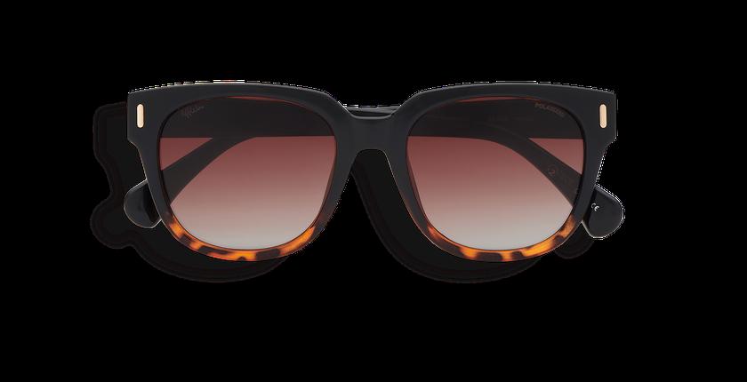 Gafas de sol mujer MONOI POLARIZED negro/carey - vista de frente