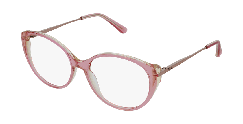 Gafas graduadas mujer LIVIA rosa - vue de 3/4