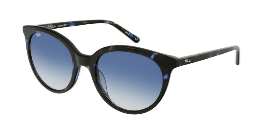Gafas de sol mujer ENORA carey/azul - vue de 3/4