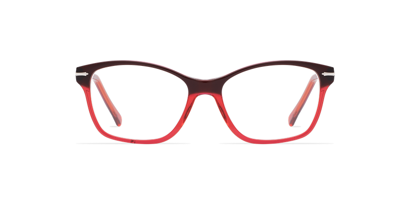 Gafas graduadas mujer LADOYE rojo/morado - vista de frente