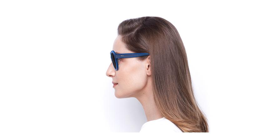 Gafas de sol mujer ALYSSA azul - vista de lado