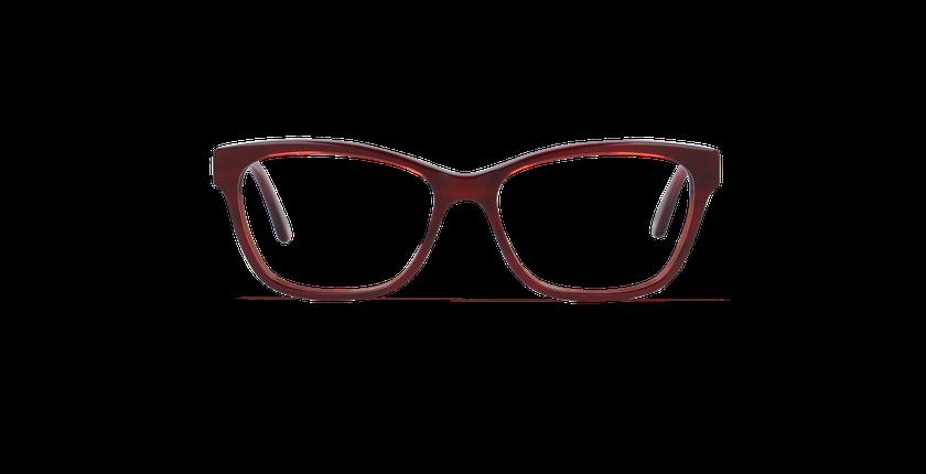 Gafas graduadas mujer TOPAZE rojo - vista de frente