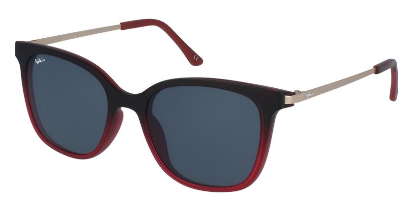 Gafas de sol mujer MAGIC 28 BLUE BLOCK rojo - vue de 3/4