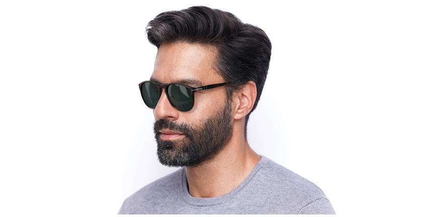 Gafas de sol hombre 0PO9649S marrón - vue de 3/4