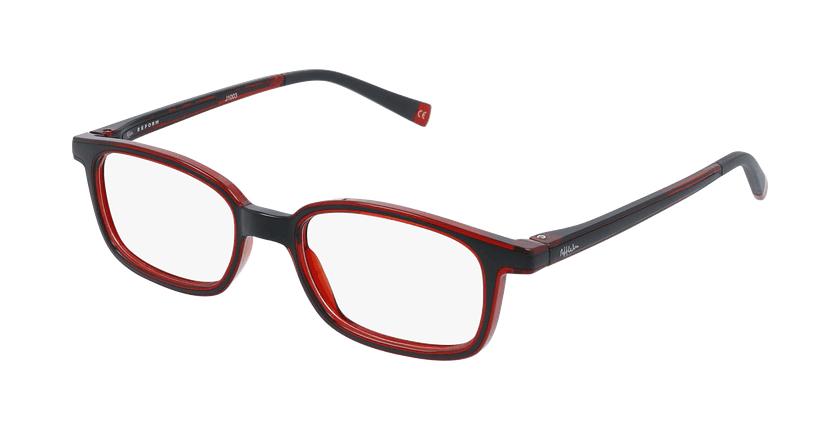 Gafas graduadas niños RFOP1 negro/rojo - vue de 3/4