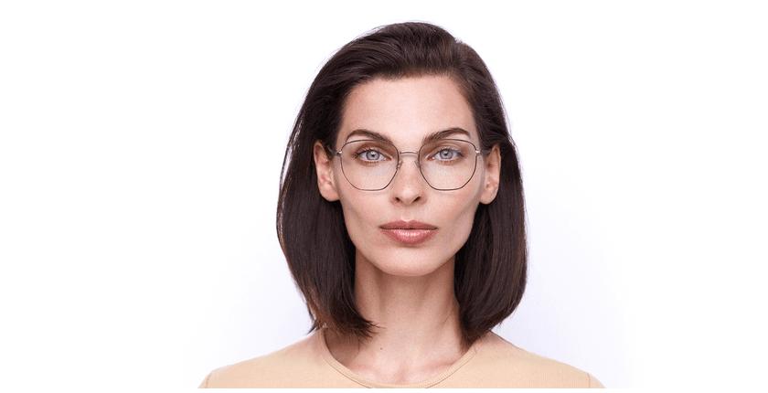 Gafas graduadas mujer ERIN rojo/dorado - vista de frente