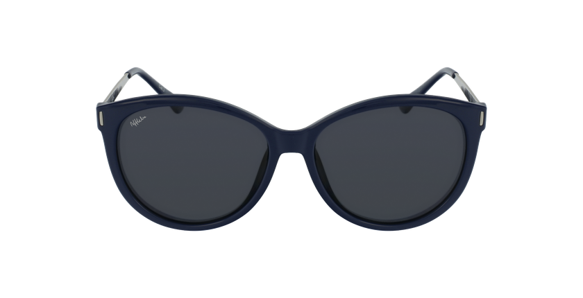 Gafas de sol mujer ZAFRA azul/plateado - vista de frente
