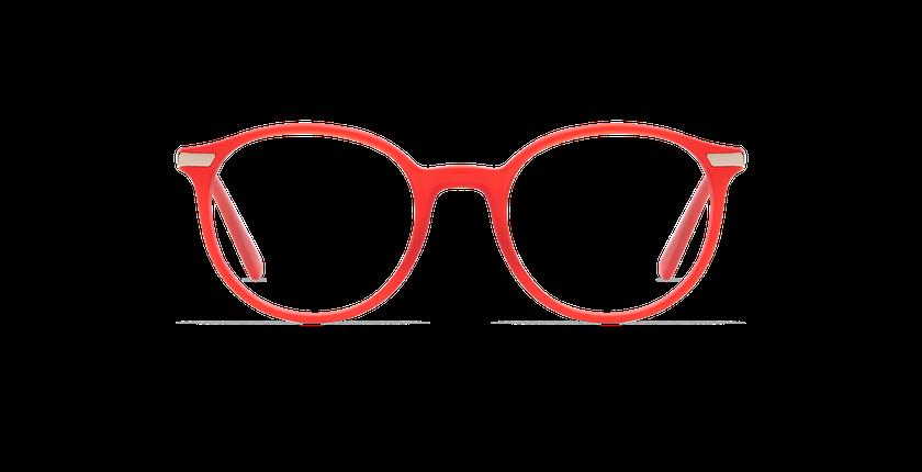 Gafas graduadas hombre BENJAMIN rojo - vista de frente