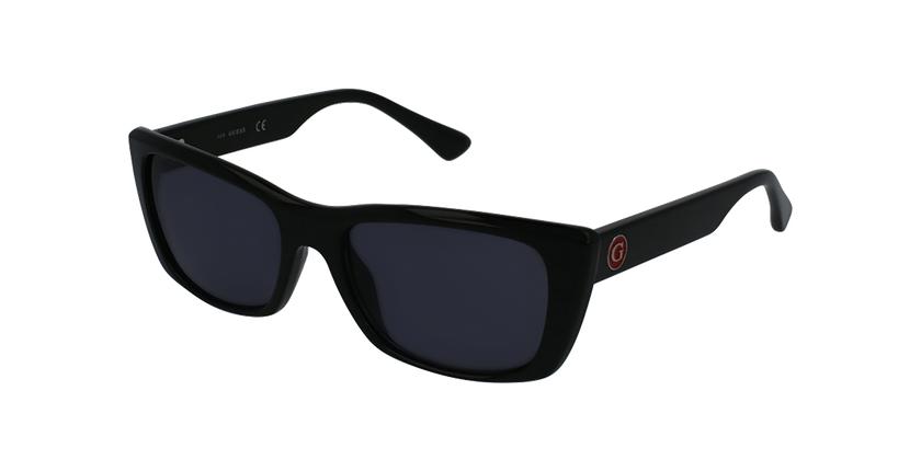 Gafas de sol mujer GU7652 negro - vue de 3/4