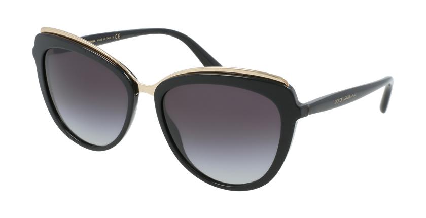 Gafas de sol mujer 0DG4304 negro - vue de 3/4