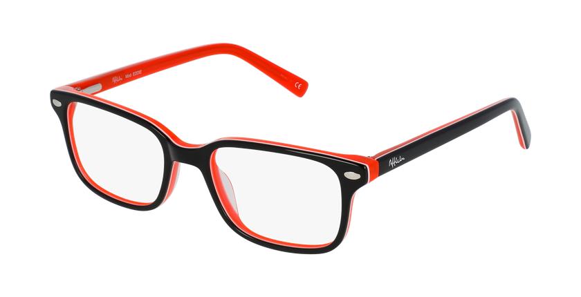 Gafas graduadas niños EDDIE negro/naranja - vue de 3/4