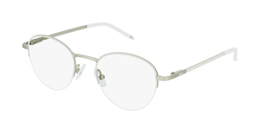 Gafas graduadas mujer DOMI blanco/dorado - vue de 3/4