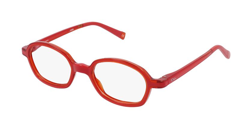 Gafas graduadas niños RFOM2 rojo/naranja - vue de 3/4