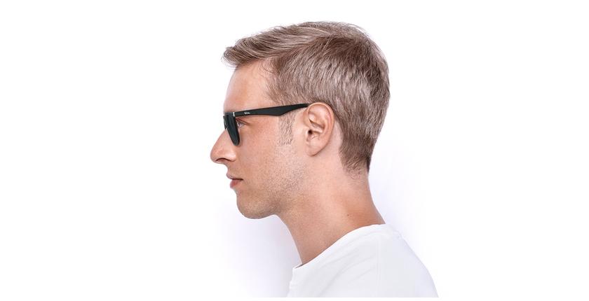 Gafas de sol hombre CAGLIARI POLARIZED negro - vista de lado