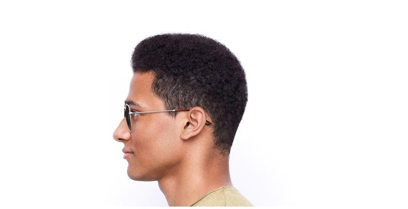 Gafas de sol hombre TOSSA marrón/blanco - vista de lado