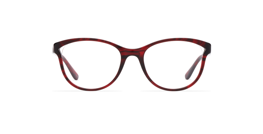 Gafas graduadas mujer MADELINE rojo - vista de frente