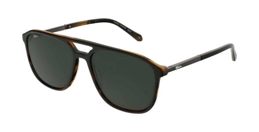 Gafas de sol hombre RICK marrón - vue de 3/4