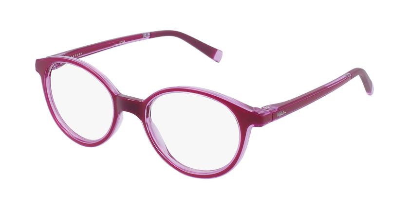 Gafas graduadas niños RFOP2 rosa - vue de 3/4
