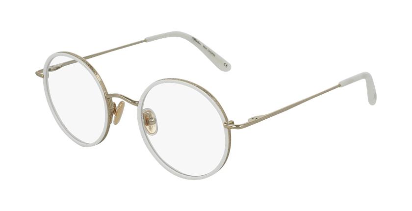 Gafas graduadas CHOPIN dorado/blanco - vue de 3/4