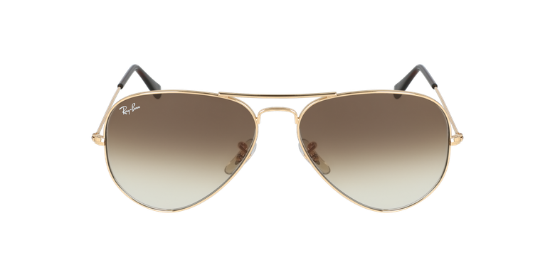 Gafas de sol AVIATOR LARGE METAL dorado/marrón
