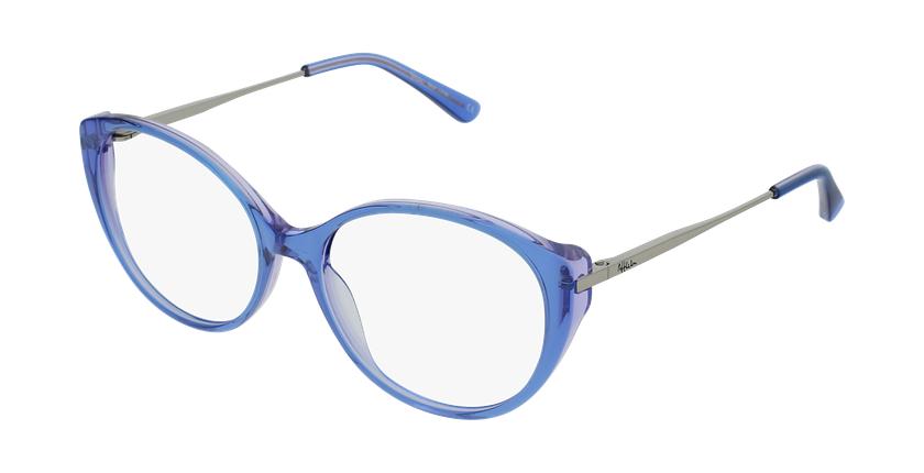 Gafas graduadas mujer LIVIA azul - vue de 3/4
