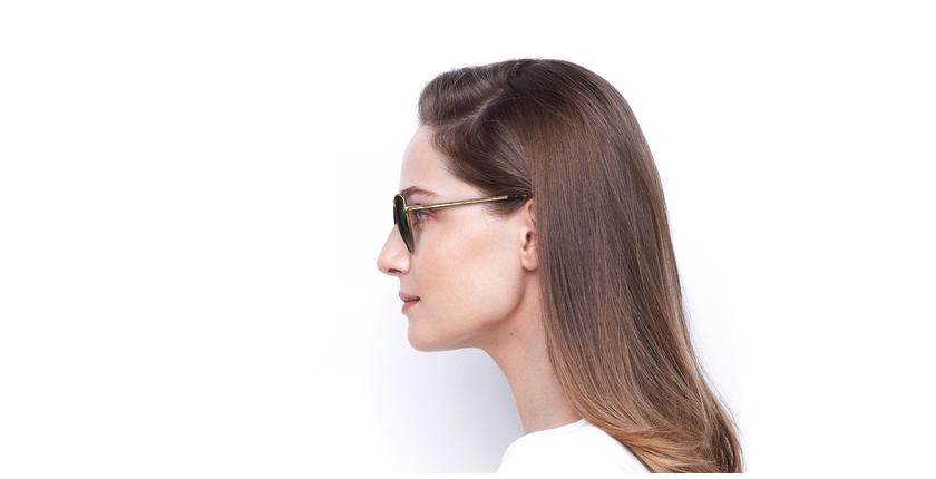 Gafas de sol mujer TEYA dorado - vista de lado
