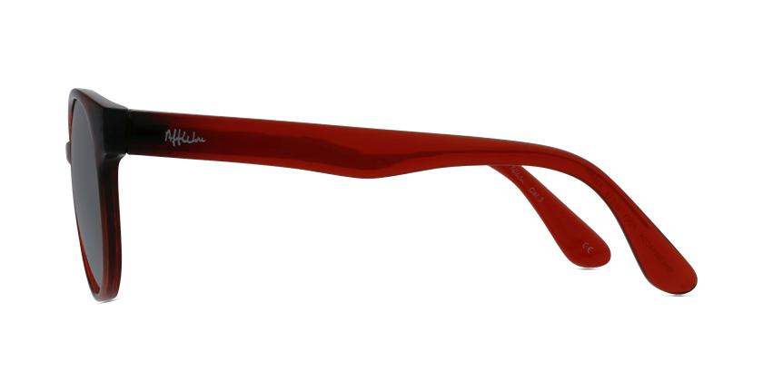 Gafas de sol niños MANACOR - NIÑOS rojo - vista de lado