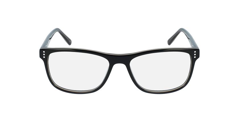 Gafas graduadas hombre HECTOR negro/gris - vista de frente