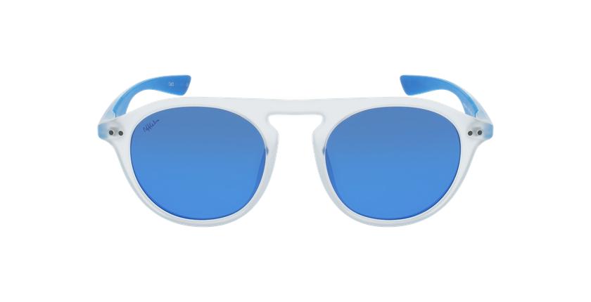 Gafas de sol BORNEO blanco/azul - vista de frente