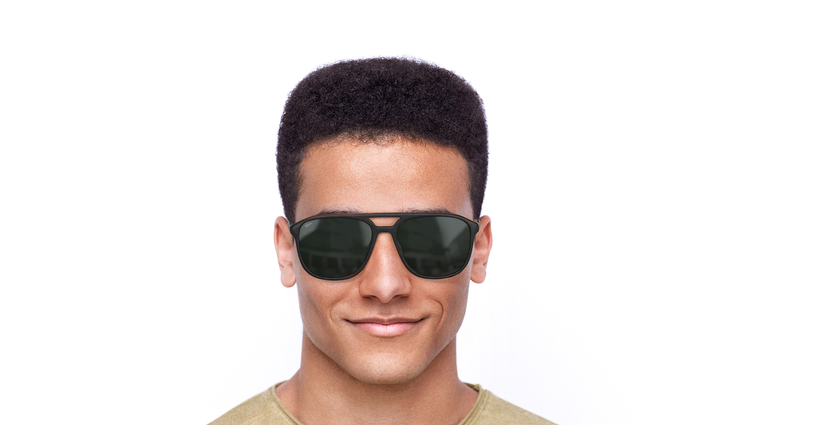 Gafas de sol hombre RICK marrón - vista de frente