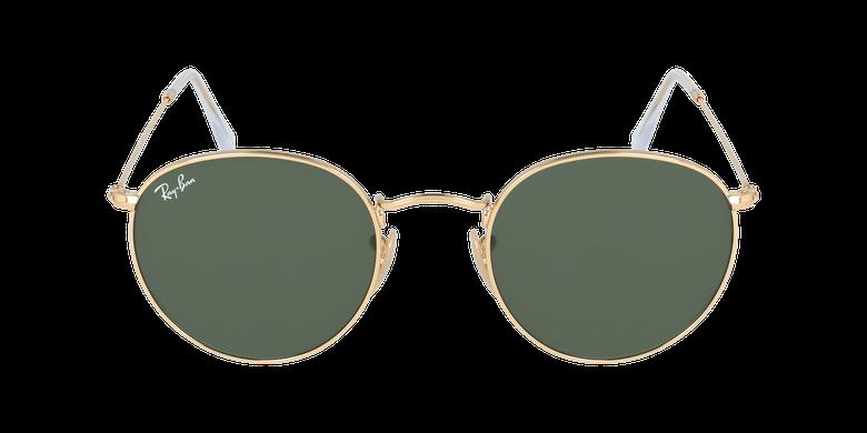 Gafas de sol ROUND METAL marrónvista de frente