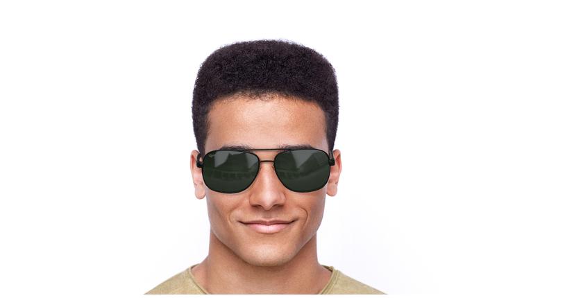 Gafas de sol hombre CRUZ negro/carey - vista de frente