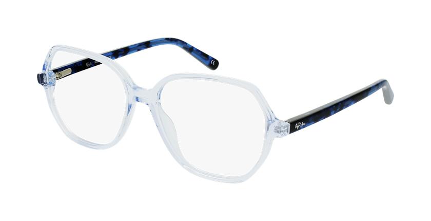 Gafas graduadas mujer CONSTANCE azul - vue de 3/4