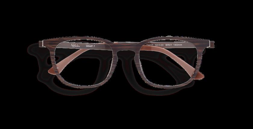 Gafas graduadas hombre MAGIC 07 marrón/marrón marmoleado - vista de frente