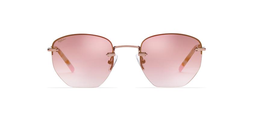 Gafas de sol mujer JENNA rosa/dorado - vista de frente