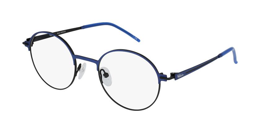 Gafas graduadas mujer VENUS azul/negro - vue de 3/4