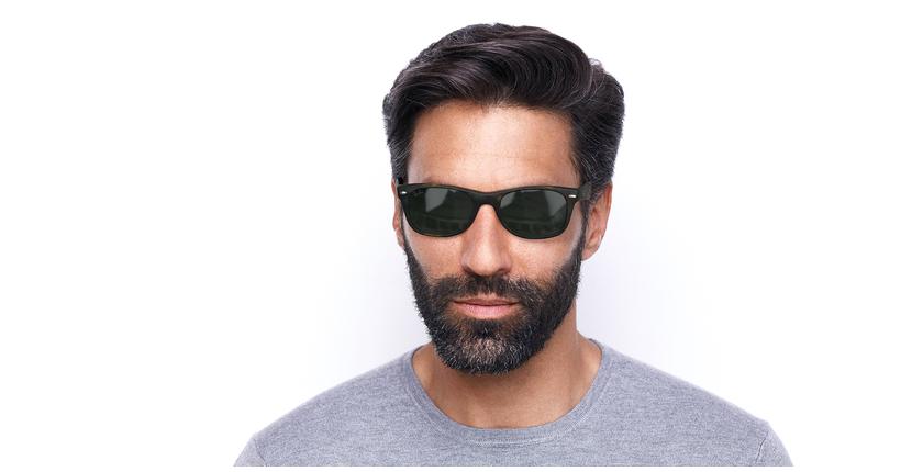 Gafas de sol hombre NEW WAYFARER marrón - vista de frente