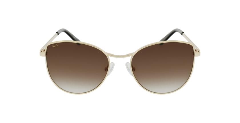 Gafas de sol mujer TEYA dorado - vista de frente