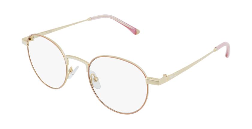 Gafas graduadas MAGIC 70 rosa/dorado - vue de 3/4