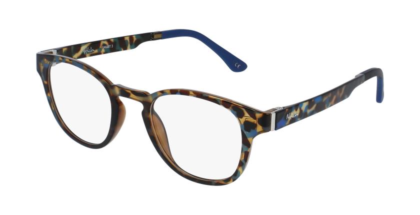 Gafas graduadas hombre MAGIC 03 carey/carey azul - vue de 3/4