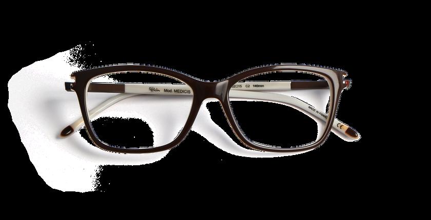 Gafas graduadas mujer MEDICIS marrón/marrón - vista de frente