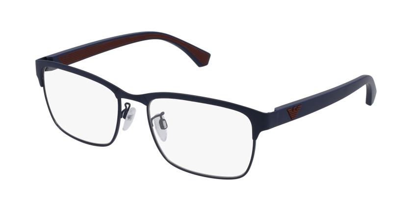 Gafas graduadas hombre EA 1098 azul/rojo - vue de 3/4