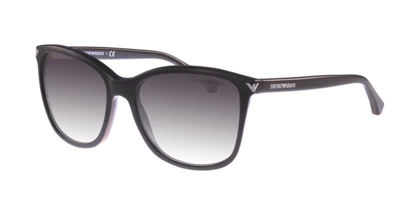 Gafas de sol mujer 0EA4060 negro - vue de 3/4