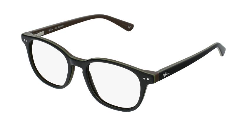 Gafas graduadas niños SANDRO negro/verde - vue de 3/4