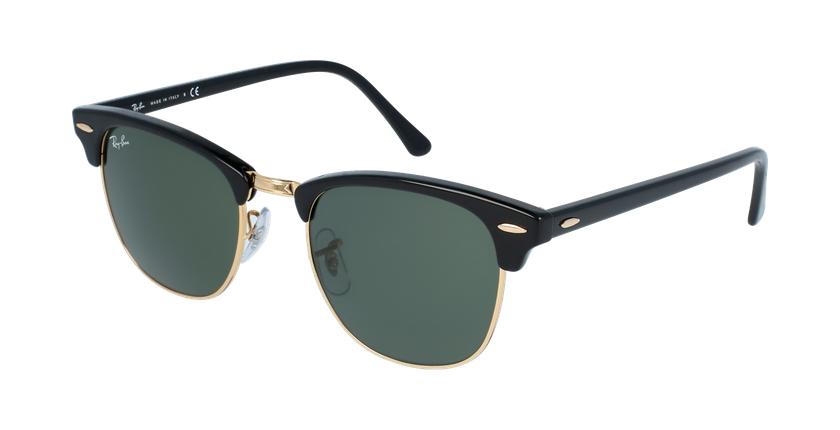 Gafas de sol CLUBMASTER negro/dorado - vue de 3/4