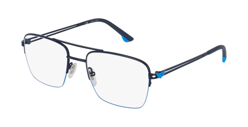Gafas graduadas hombre VPL879 azul/negro - vue de 3/4