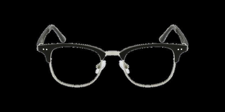 Gafas graduadas TMG92 negro/plateadovista de frente