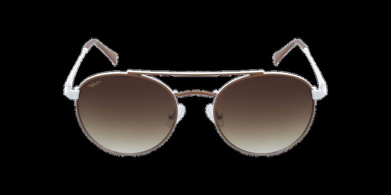 Gafas de sol niños SANTIAGO - NIÑOS marrón/blancovista de frente