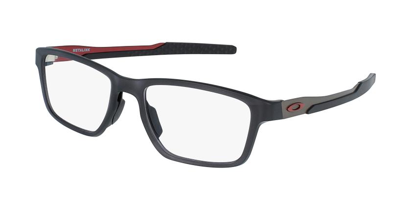 Gafas graduadas hombre OX8153 negro/rojo - vue de 3/4