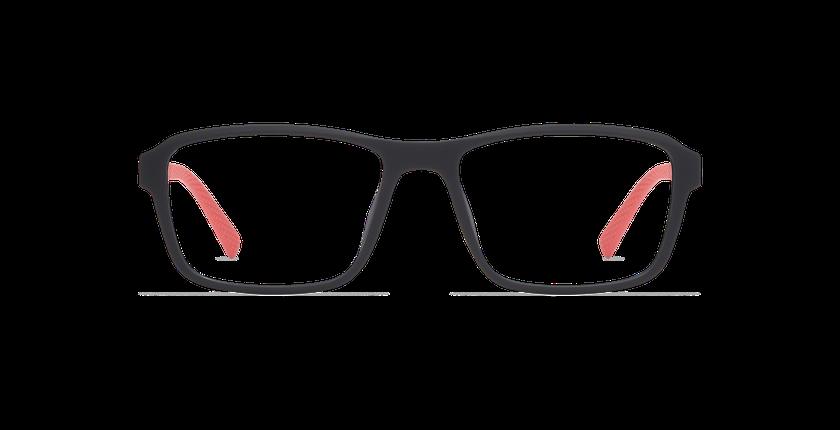 Gafas graduadas hombre BIRDIE negro/rojo - vista de frente